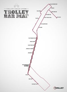Dallas Uptown Trolley Bar Map