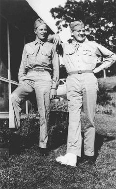 Brothers Peter Graves, James Arness during WW2. Both went on to have successful acting careers.