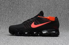 New Nike Air VaporMax 2018 KPU Black Red Tick Men Shoes New Nike Air, Nike Air Max Plus, Nike Max, Nike Air Vapormax, Cheap Nike Air Max, Max Vapor, Men Sneakers, Air Max Sneakers, Nike Air Huarache