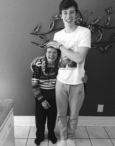 Shawn Mendes with his grandmother ahhhhhhhhhhhhhhhhhhhhhhhhh sooooooooooooooooooooooooooooooo cute!!!!!!!!!!!!!!!!!!!!!!!!!!!!!!!