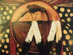 Crane War Shield Kevin RedStar kK Native American Artists, West Texas, Star Art, Paintings I Love, Crane, Drums, Nativity, Birds, War