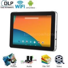 2in1 DLP Multimedia Projector  Android Quad Core Smart Tablet WiFi Home Theater