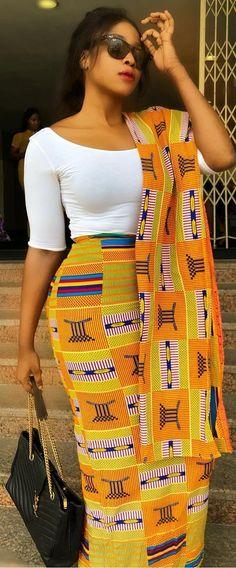 royal kente dress - Brenda O. African Print Dresses, African Fashion Dresses, African Attire, African Wear, African Women, African Dress, Fashion Outfits, African Print Wedding Dress, Ankara Fashion