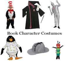 Dress up as your favorite book character and have a Happy Bookish Halloween! How about one of these book character costume ideas from the best children's picture and chapter books? Book Characters Dress Up, Character Dress Up, Book Character Day, Book Character Costumes, Character Ideas, Book Costumes, World Book Day Costumes, Book Week Costume, Costume Ideas