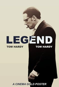 Legend - Alternative movie poster featuring Tom Hardy as Ronnie Kray #GangsterMovie #GangsterFlick