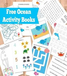 Free Printable Ocean Activity Books for Kids with tracing, puzzles, mazes and other fun activities for kids in the preschool to first grade age range. Great for regular teacher and homeschool classrooms.