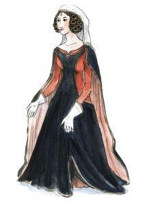 Dame 1350.  Hochgotik | Die Gewand-Sammlung