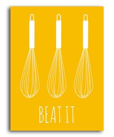 Yellow 'Beat It' Print