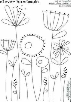 Vintage Embroidery Patterns Free hand embroidery pattern f
