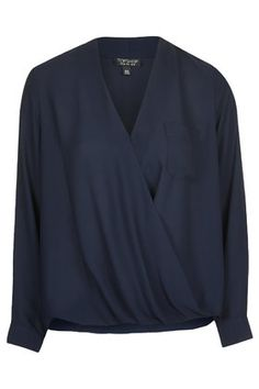 Drape Front Blouse - Tops - Clothing