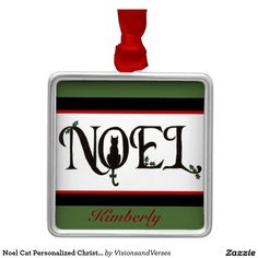 Noel Cat Personalized Christmas Ornament