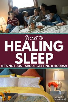 Healthy sleep isn't ONLY about time in bed. How can you get deep sleep, restorative rest that heals your mind and body? Blue light is part of it...but you can do simple things to get better rest!
