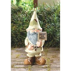 Home Locomotion - Garden Gnomes - Support Our Troops Gnome