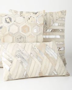 Silver+Cowhide+Pillows+at+Neiman+Marcus.