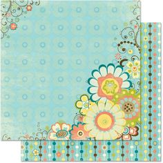 Bo Bunny Press - Hello Sunshine Collection - 12 x 12 Double Sided Paper - Breezy at Scrapbook.com $1.01
