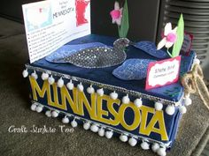 state report float- so cool! Maybe we could do this for social studies?