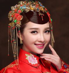 古裝鳳冠新娘頭飾