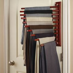 Shop for home organization products at Hammacher Schlemmer. Discover stylish storage solutions for the entire home, designed for modern living. Closet Storage, Closet Organization, Closet Wall, Bathroom Closet, Closet Bedroom, Storage Bins, Bedroom Storage, Storage Ideas, Pants Rack