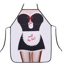 OULIU Lady's Kitchen Sexy Fashion Cooking Baking Kitchen Aprons Black os *** Hurry! Check out this great sales : Free Home and Kitchen