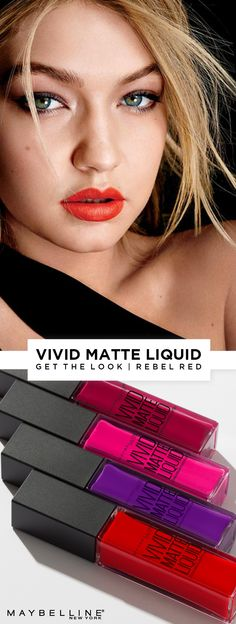 Drench your lips in Vivid Matte by Maybelline. Creamy color glides easily onto lips for a velvety matte finish. From 'Electric Pink' to 'Vivid Violet', each Vivid Matte shade glides on smooth to a matte finish. Add the finishing touch to all your makeup looks with pigmented color. With a collection of 10 options to amp up your lips, it's easy to live vividly. Click through to discover all the shades.