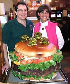 123 pound burger!! New Record for Guiness Book of World Records