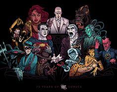 The Legion of Doom - my tribute to 75 years of DC Comics Comic Villains, Superhero Villains, Comic Superheroes, Dc Comics, Comic Art, Comic Books, Justice League Dark, Dc Characters, American Comics