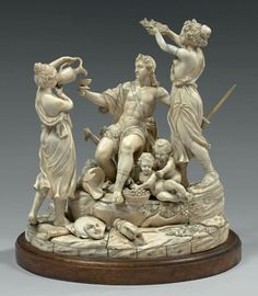 Important ivory group, 2nd half of the 19th century