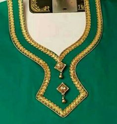Pushpa bhabhi green with blue add on, Suneeta bua green Chudithar Neck Designs, Neck Designs For Suits, Neckline Designs, Dress Neck Designs, Salwar Suit Neck Designs, Kurta Neck Design, Saree Blouse Neck Designs, Salwar Designs, Simple Blouse Designs