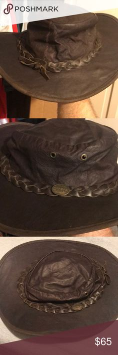Men's Barmah Hats Kangaroo Leather hat. Men's size XXL. 100% Waterproof Barmah Hats Accessories Hats
