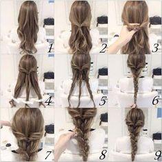 209386-Quick-And-Easy-Braid-Hair-Tutorial #braids Short Hair Styles Easy, Medium Hair Styles, Curly Hair Styles, Easy Hairstyles For Medium Hair, Trendy Hairstyles, Festival Hairstyles, Sport Hairstyles, Medium Length Straight Hairstyles, Straight Hairstyles For Long Hair
