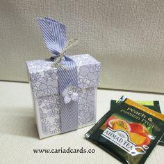 Stampin Up Something Lacy Tea Bag Holder Box