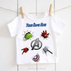 The Avengers children's t-shirt personalised t-shirt