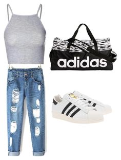 Cool Look✋ by lorette-delion on Polyvore featuring polyvore, fashion, style, Glamorous, adidas Originals and adidas