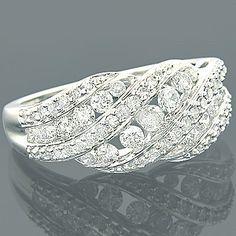 14K Gold Designer Diamond Rings Collection Item 1.27ct