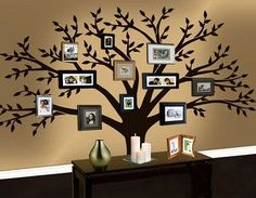 Wall Art Tree family tree wall decal tree wall decalbrownshades on etsy