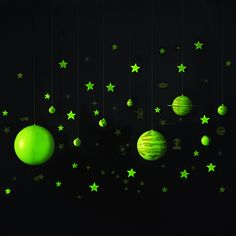 New for 2017! GeoSafari Glow-in-the-Dark Planets & Stars Set brings the wonder of the solar system to your ceiling! This versatile space set mounts or hangs to transform any room into the ultimate observatory! Ages 8+.