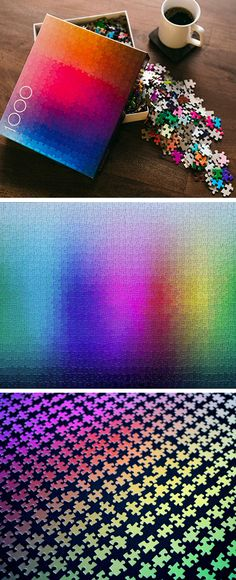 Worlds largest jigsaw puzzle it has 33600 pieces pinterest containing exactly 1000 colors which have been cut into a one thousand piece cmyk gamut this puzzle appears to be a pretty intimidating challenge greentooth Choice Image