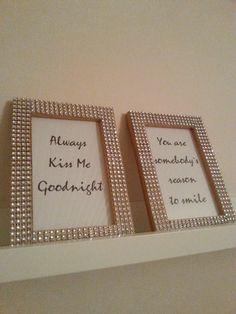 DIY: Sparkling frames
