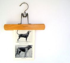 new use for old wooden clothes hangers