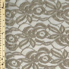 Malt Cotton Lace Fabric by the Yard Wedding Bridal by LaceFabrics, $11.00