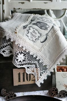 Декоративные кухонные полотенца - полотенце, декоративное полотенце, кухня, кухня Прованс, кухонный декор