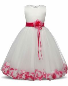 Flower Children s Dresses Girls Kids Clothes For Wedding 8 10 Years  Birthday Dress Little Girl Evening Party Dress Baby Costume 007d2499aa0a