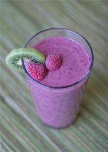 Raspberry Kiwi Smoothie - Once A Month Meals - OAMC - Weight Watchers Points Plus