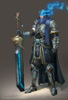 Alaric by dinmoney on deviantART --------------------------------------------- an arcane knight perhaps? Mixing magic and swordplay into one style of combat