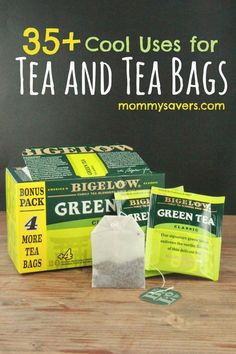 Uses for Tea Bags and Leaves:  35+ Clever Ideas #Tea #TeaBags
