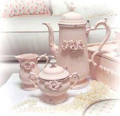 A Positively Beautiful Blog* enamelware tea set*