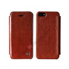 HOCO Crystal Folder Protective Case Cover For iPhone 5  - Brown US$16.82