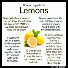 Oh lemons ! Hoodoo Spells, Magick Spells, Magick Book, Gypsy Spells, Magic Herbs, Herbal Magic, Witchcraft Spells For Beginners, Jar Spells, Candle Spells