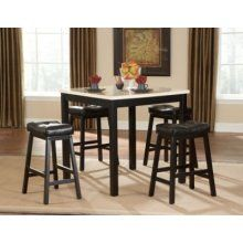 Oxford Creek 5 Piece Black Breakfast Table Set.