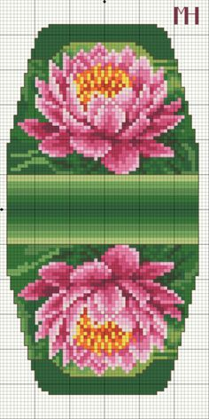 Cross-stitch Lilly pad Purse... no color chart available, just use pattern chart as your color guide.. or choose your own colors.. ... Gallery.ru / Фото #9 - Сумочка игольница - Gultiera1851